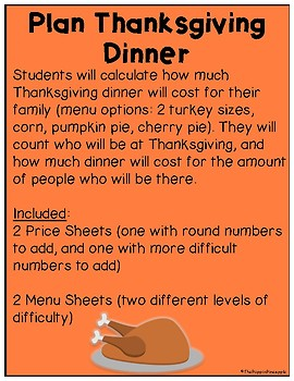 Plan A Thanksgiving Dinner