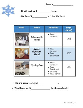 Plan A Winter Getaway to Chicago! Project Based Learning Assignment