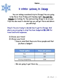 Plan A Winter Getaway to Chicago! Project Based Learning A