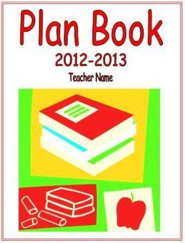 Plan Book Cover Sheet