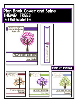 BINDER COVERS! -TREE Themed **EDITABLE**