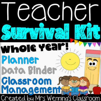 Teacher Survival Toolkit! Teacher Planner, Data Binder & Classroom Management!