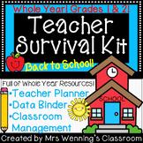 Teacher Survival Kit! Teacher Planner Help, Data Binder Help & Class Management!