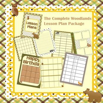Teacher Binder: Woodland/Camping Theme