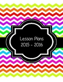 Plan Book and More - 2015-2016 SY - Neon - Bright Colors