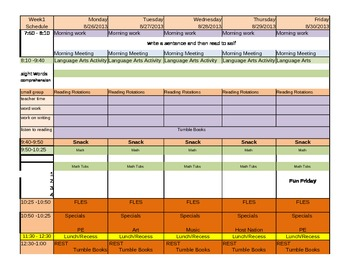 Plan Book template
