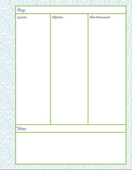 Plan Book,Complete with weekly and daily calendars, and sub plan cover!
