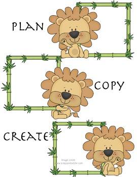 Plan Copy Create- Lion