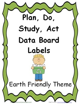 Plan, Do, Study, Act Board Earth Friendly Labels