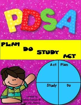 Plan Do Study Act Goal Setting Bulletin Board Set Editable!