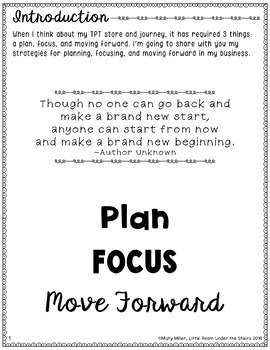 Plan Focus and Move Forward with Your TPT Store