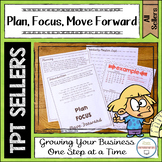 Plan Focus and Move Forward with Your TPT Store TPT Seller