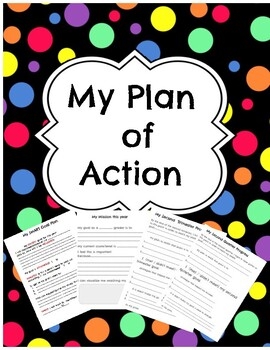 Plan Of Action Student Binder