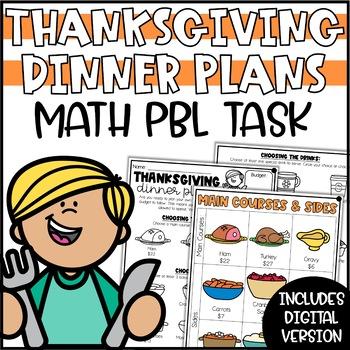 Plan Thanksgiving Dinner - A Mini-Math Project