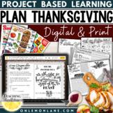 Thanksgiving Math Project  / Plan Thanksgiving Dinner  / Thanksgiving Activities