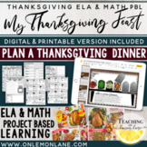 Thanksgiving Math Project Plan Thanksgiving Dinner Thanksgiving Activities PBL