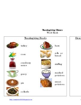 Plan Thanksgiving Dinner Writing Activity