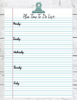 Plan Time To Do List