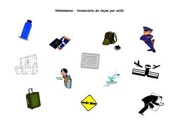 Plane Travel Vocabulary Matamoscas Game