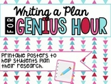 Plan Writing Posters for Genius Hour