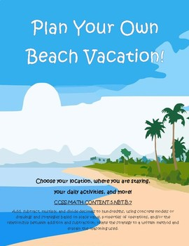 Plan Your Own Beach Vacation Decimal Practice