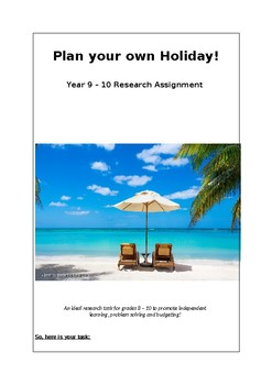 Plan Your Own Holiday!