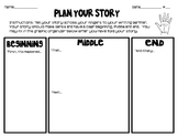 Plan Your Story, Narrative Writing Graphic Organizer