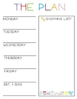 Plan Your Week!