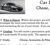Plan a Budget for Purchasing & Owning a Car Mathematics /