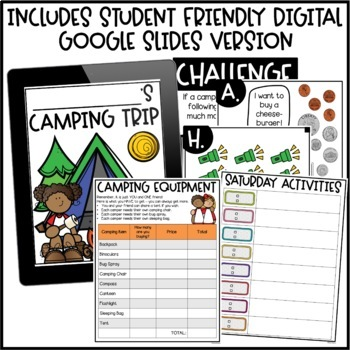 pbl math enrichment project plan a camping trip by briana beverly