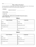 Plan a Dream Vacation - Rates & Unit Rates