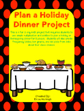 Plan a Holiday Dinner Math Project