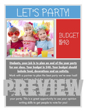 Plan a Party! Economics & Money Project- Wants vs. Needs & Budgeting Activity