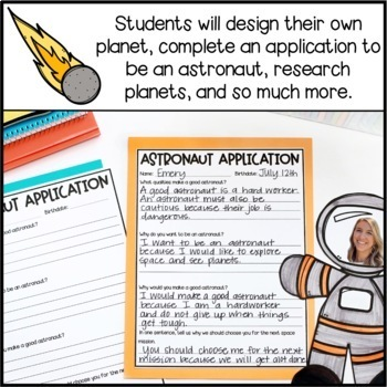 Plan a Trip to Space Writing Add-On: Astronaut Application