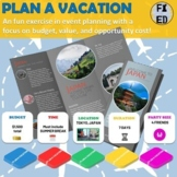 Plan a Vacation Project | Personal Finance | F2F & Virtual