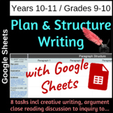 Plan and Structure Writing with Google Sheets - Grades 9-10