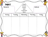 Plan at a Glance with Bloom's Taxonomy