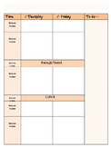 Plan book pages