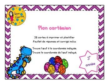 Plan cartésien - Cartes à tâches - 3e année