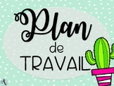 Plan de travail - Cactus/Ananas/Flamants