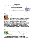 Plan for Establishing Correct Behavior and Classroom Rules Using Books