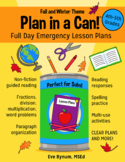 Plan in a Can!: Full Day Bundled Emergency Sub Plans 4th-5