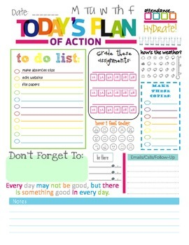 Plan of Action - Teacher To Do List
