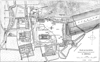 Plan of Ancient Olympia