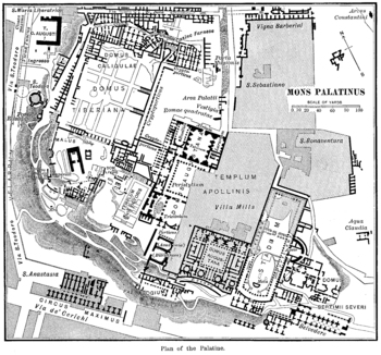 Plan of Ancient Rome's Palatine Hill