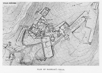 Plan of Hadrian's Villa at Tivoli