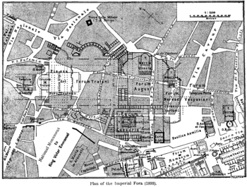 Plan of the Ancient Rome's Imperial Fora