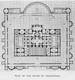 Plan of the Baths of Dicoletian