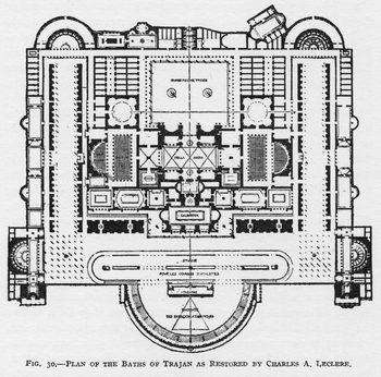 Plan of the Baths of Trajan