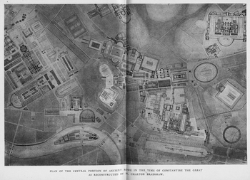 Plan of the Center of Rome in the time of Constantine